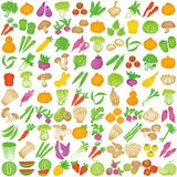 Collection of fresh fruits and vegetables. Royalty Free Stock Photography