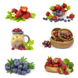 Collection of fresh fruits Stock Image
