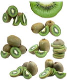 Collection of fresh kiwi fruits Royalty Free Stock Images