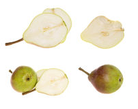 Collection of fresh ripe pears Royalty Free Stock Photos