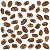 Collection of  fresh roasted coffee beans ( close up ) ( isolate background ) Stock Photo