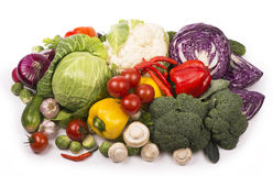 Collection of fresh vegetables Stock Photography