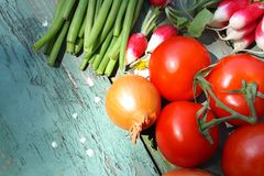 A collection of fresh vegetables Royalty Free Stock Image