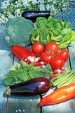 A collection of fresh vegetables Stock Photo