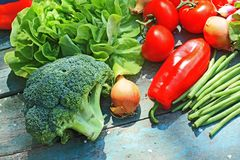 A collection of fresh vegetables Stock Photography