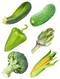 Collection of fresh vegetables on white background. With clipping path Stock Images