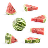 Collection Fresh watermelon Royalty Free Stock Photo