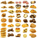 Collection of freshly baked buns,cookies and bread Royalty Free Stock Photos