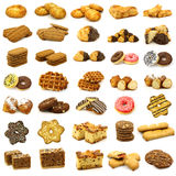 Collection of freshly baked pastry Royalty Free Stock Photos
