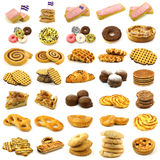 Collection of freshly baked pastry Stock Images