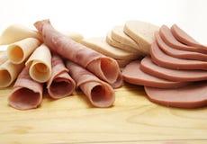Collection froide de viande d'épicerie Image stock