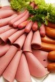 Collection froide de viande d'épicerie Images libres de droits