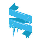 Collection of frozen icicle snow winter vector banner. Royalty Free Stock Photography