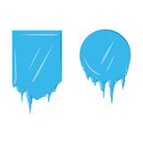 Collection of frozen icicle snow winter vector banner. Stock Image