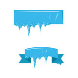 Collection of frozen icicle snow winter vector banner. Stock Photography