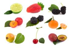 Collection fruit Royalty Free Stock Photo