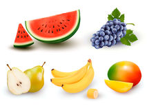 Collection of fruit and berries. Royalty Free Stock Photos
