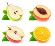 COllection of  fruit halves Stock Images