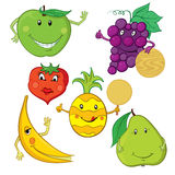 Collection of Fruit Illustrations Royalty Free Stock Photo