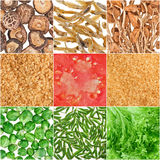 Collection of fruit and vegetable backgrounds Royalty Free Stock Image