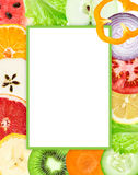 Collection of fruit and vegetable slices. Food concept Royalty Free Stock Images