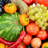 Collection fruit and vegetables Stock Photo