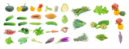 Collection of fruit and Vegetables Stock Photo