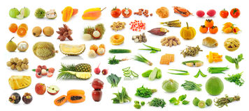 Collection of fruit and Vegetables Stock Image