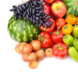 Collection of fruit and vegetables Royalty Free Stock Photography