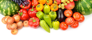 Collection of fruit and vegetables Royalty Free Stock Image