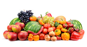 Collection fruit and vegetables Royalty Free Stock Image