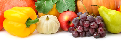 Collection fruit and vegetables Royalty Free Stock Photos