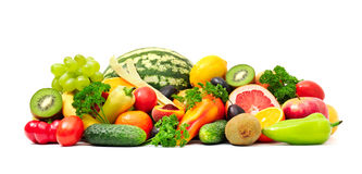 Collection fruit and vegetables Stock Photography