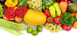 Collection fruit and vegetables Stock Images