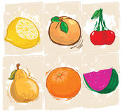 Collection of fruits Royalty Free Stock Photos