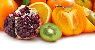 Collection fruits Royalty Free Stock Photo