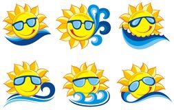 Collection of fruits icons Royalty Free Stock Photos