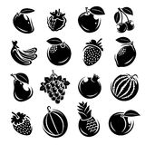 Collection of fruits set. Vector illustration Royalty Free Stock Photos