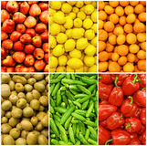 Collection of fruits and vegetables Stock Images