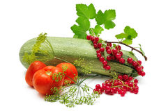 Collection fruits and vegetables Stock Photo