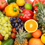 Collection fruits and vegetables Royalty Free Stock Image