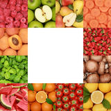 Collection of fruits, vegetables and herbs Stock Photography