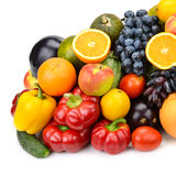 Collection of fruits and vegetables Stock Photos
