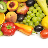Collection fruits and vegetables Stock Photos