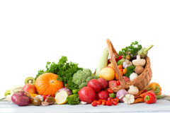 Collection fruits and vegetables isolated. Royalty Free Stock Image