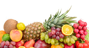 Collection fruits and vegetables Royalty Free Stock Photos