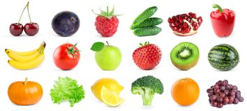 Collection of fruits and vegetables Stock Photography
