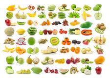 Collection of Fruits  on white Stock Images