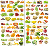 Collection of Fruits  on white background Royalty Free Stock Photography