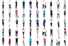 Collection of full length diversified people stock image